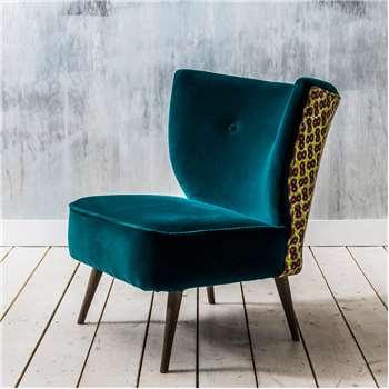 Alpana Teal Velvet Chair (73 x 45cm)
