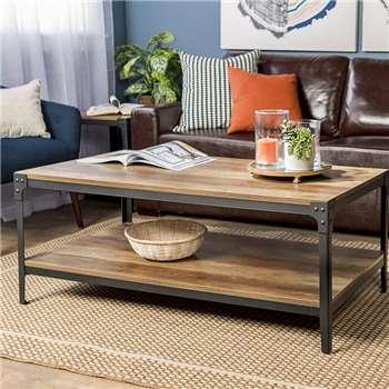 Alpen Home - Arboleda Coffee Table, Rustic Oak (H46 x W122 x D61cm)