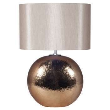 Alpha Oval Table Lamp Bronze (H57.5 x W40 x D40cm)