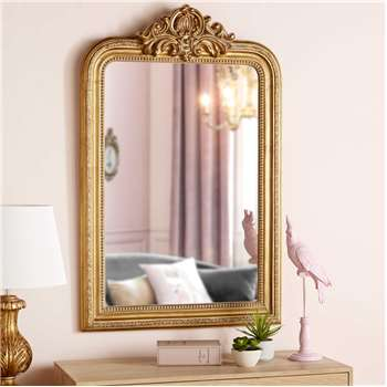 ALTESSE Mirror with gold mouldings (119.5 x 76.5cm)