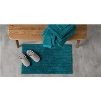 ALTO 100% Cotton Bath Mat, Azure Blue (50 x 80cm)