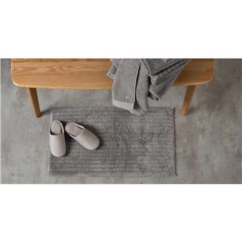 ALTO 100% Cotton Bath Mat, Elephant Grey (50 x 80cm)