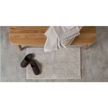 ALTO 100% Cotton Bath Mat, Grey Putty (50 x 80cm)