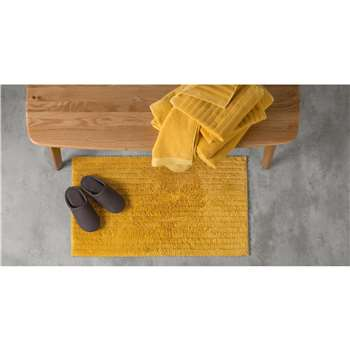ALTO 100% Cotton Bath Mat, Mustard (50 x 80cm)