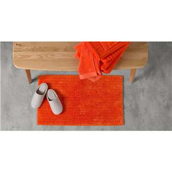 ALTO 100% Cotton Bath Mat, Tomato (50 x 80cm)