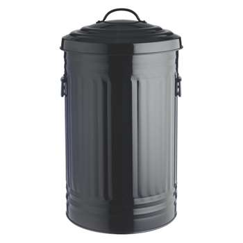 Alto Black kitchen bin 52L
