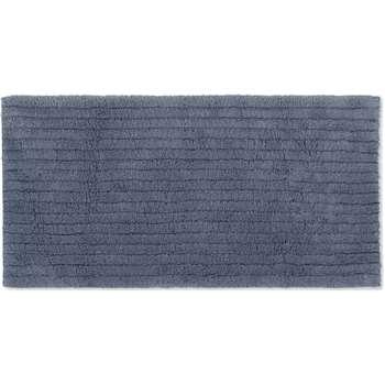 Alto Extra Long 100% Cotton Bath Mat, Indigo Blue (H50 x W110cm)