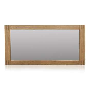 Alto Natural Solid Oak Wall Mirror (H60 x W120 x D4cm)