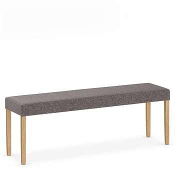 Alton Grey Fabric Bench, Grey (H49 x W140 x D35cm)