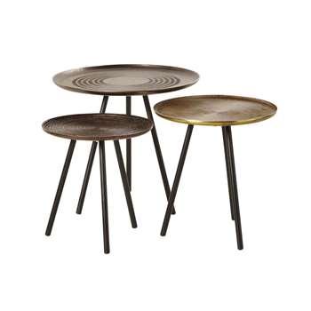 Aluminium and Metal Nesting Tables Taksim (H90 x W45 x D90cm)