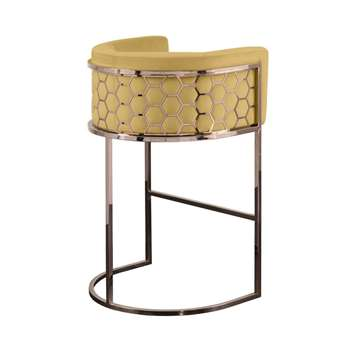 Alveare Bar Stool Copper - Ochre (H95 x W63 x D55cm)