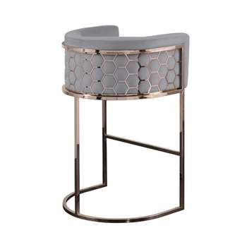 Alveare Bar Stool Copper - Silver (H95 x W63 x D55cm)