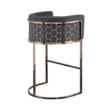 Alveare Bar Stool Copper - Smoke (H95 x W63 x D55cm)