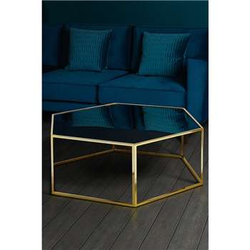 Alveare Brass and Antique Mirror Coffee Table (H35 x W100 x D100cm)