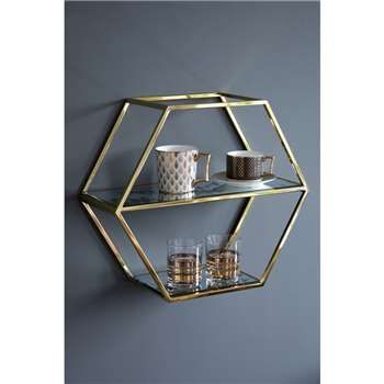 Alveare Brass Shelf (H43 x W50 x D20cm)