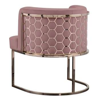 Alveare Dining Chair Copper - Blush Pink (H75 x W60 x D60cm)