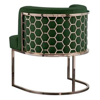 Alveare Dining Chair Copper - Bottle Green (H75 x W60 x D60cm)