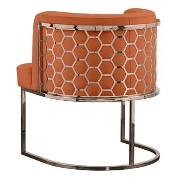 Alveare Dining Chair Copper - Orange (H75 x W60 x D60cm)