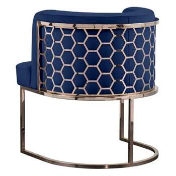 Alveare Dining Chair Copper - Royal Blue (H75 x W60 x D60cm)