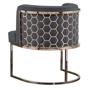 Alveare Dining Chair Copper - Smoke (H75 x W60 x D60cm)