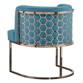 Alveare Dining Chair Copper - Teal (H75 x W60 x D60cm)