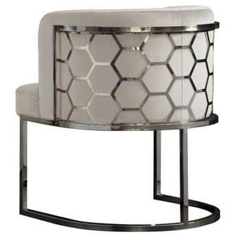 Alveare Dining chair Silver - Chalk (H75 x W60 x D60cm)