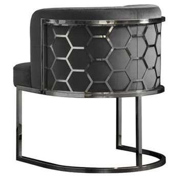 Alveare Dining chair Silver - Smoke (H75 x W60 x D60cm)