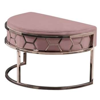 Alveare Footstool Copper - Blush Pink (H41 x W75 x D50cm)