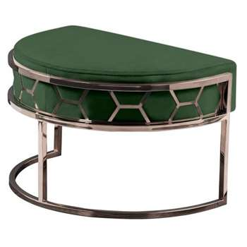 Alveare Footstool Copper - Bottle Green (H41 x W75 x D50cm)