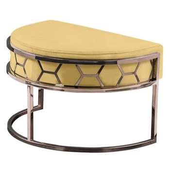 Alveare Footstool Copper - Ochre (H41 x W75 x D50cm)