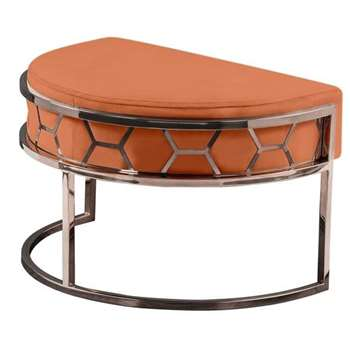 Alveare Footstool Copper - Orange (H41 x W75 x D50cm)