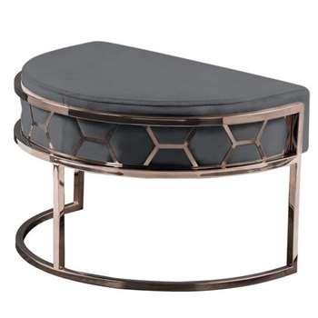 Alveare Footstool Copper -Smoke Grey (H41 x W75 x D50cm)