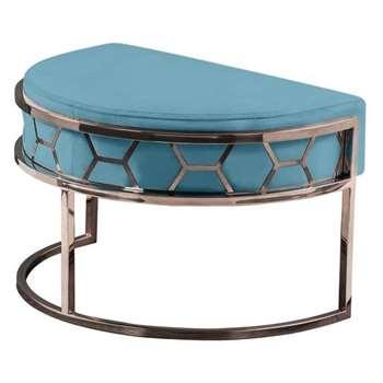 Alveare Footstool Copper -Teal (H41 x W75 x D50cm)