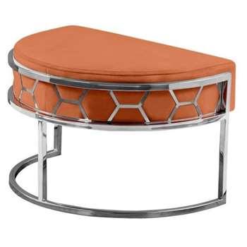 Alveare Footstool Silver - Orange (H41 x W75 x D50cm)