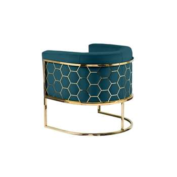 Alveare tub chair Brass - Peacock (H75 x W75 x D70cm)