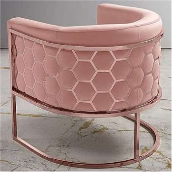 Alveare tub chair Copper - Blush Pink (75 x 75cm)