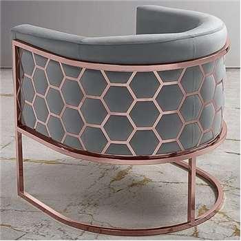 Alveare tub chair Copper - Silver (75 x 75cm)