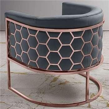 Alveare tub chair Copper - Smoke Grey (75 x 75cm)