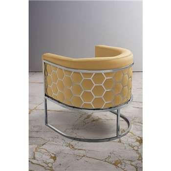 Alveare tub chair Silver - Ochre (H75 x W70 x D75cm)