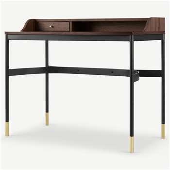 Amalyn Compact Desk, Walnut (H85 x W100 x D55cm)