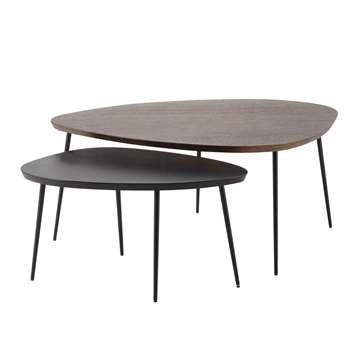 AMANDE 2 mango wood coffee tables W 73cm and (Width 105cm)