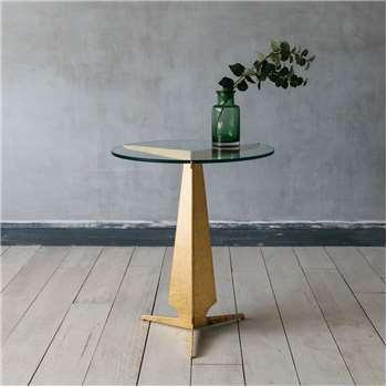 Amari Gold Round Side Table (61 x 56cm)