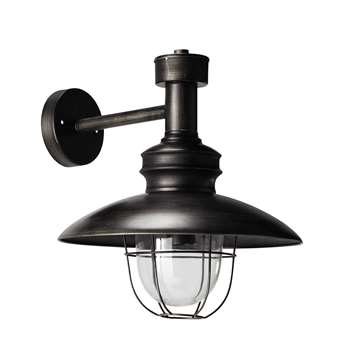 AMARRAGE antiqued metal wall light in black (34 x 32cm)