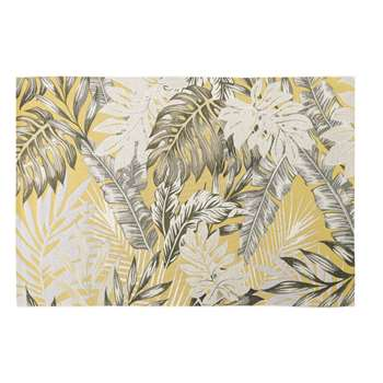 AMAZONIE Yellow Outdoor Rug with Foliage Print (H155 x W230cm)