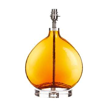 Amber Glass Base (H38.5 x W25 x D25cm)