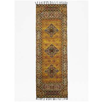 Amber Rug Runner - Yellow (H200 x W75cm)