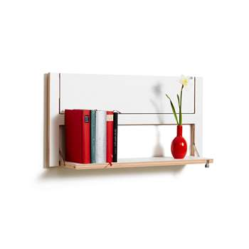 Ambivalenz - Flapps Double Folding Shelf - White (40 x 80cm)