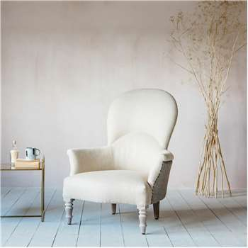 Ambrose Natural Linen Armchair (H96 x W80 x D85cm)