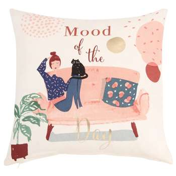 AMELIE - Printed Cotton Cushion Cover (H40 x W40cm)