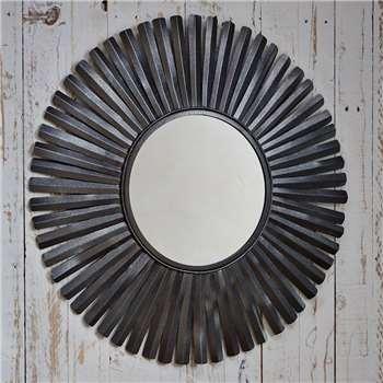 Amisha Metal Feather Mirror (Diameter 77.5cm)